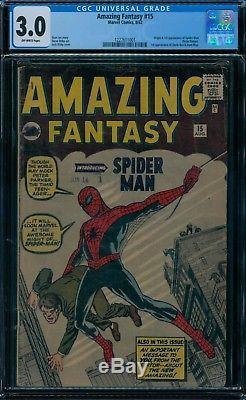 Amazing Fantasy 15 CGC 3.0 1st Spider-Man