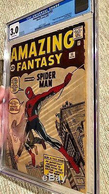 Amazing Fantasy #15 CGC 3.0 1st Spider-Man Silver Age Grail AF 15