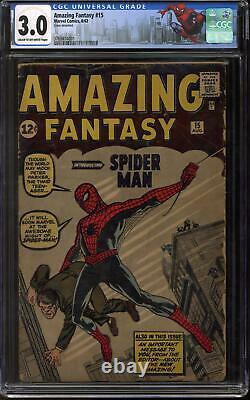Amazing Fantasy #15 CGC 3.0 (C-OW) 1st Appearance of Spider-Man