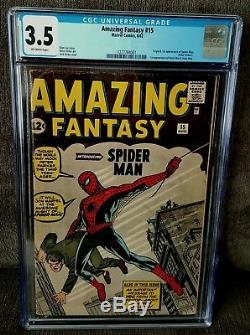 Amazing Fantasy #15 CGC 3.5 First Appearance Of Spider-Man/NO CHIPPING/NO TEARS