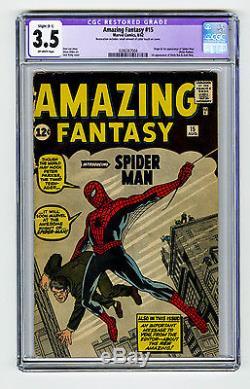 Amazing Fantasy #15 CGC 3.5 OW Silver Age Grail 1st app Spider-Man Ditko Marvel