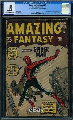 Amazing Fantasy 15 CGC. 5 1st Spider-Man
