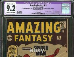 Amazing Fantasy #15 CGC 9.2 1st app SPIDER-MAN, Uncle Ben, Aunt May HOLY GRAIL