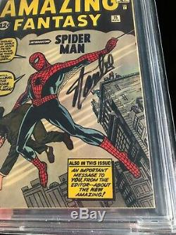 Amazing Fantasy #15 Cbcs 9.6 First Spider-man Appearance! Signed Stan Lee! (cgc)
