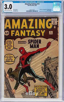 Amazing Fantasy #15 Cgc 3.0 Origin & 1st App Spider-man #1295172001