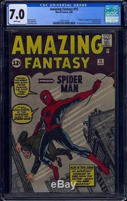 Amazing Fantasy #15 Cgc 7.0 White Pages Origin & 1st App Spider-man #1224511002
