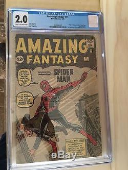 Amazing Fantasy 15 First Spiderman CGC