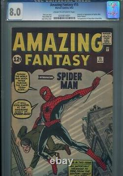 Amazing Fantasy #15 Marvel Comics, 8/62 Cgc 8 1st Appearance Of Spider-man