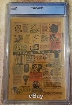 Amazing Fantasy #15 Sept. 1962 Marvel CGC Coverless Spider-Man Complete No Resto