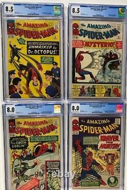 Amazing Fantasy 15 Spider-man 1 2 3 4 5 6 7 8 9 10 11 12 13 14 15 16-50 Cgc 7.0+