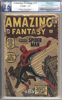 Amazing Fantasy #15 Vol 1 PGX 1.5 Nice Unrestored 1st App of Spider-Man 1962