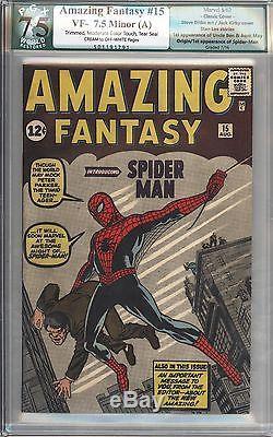 Amazing Fantasy #15 Vol 1 PGX 7.5 Beautiful High Grade 1st App Spider-Man 1962