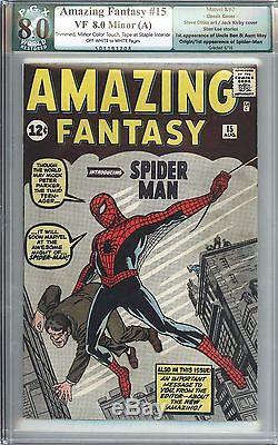 Amazing Fantasy #15 Vol 1 PGX 8.0 Beautiful High Grade 1st App Spider-Man 1962