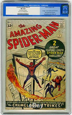 Amazing Spider-Man #1 CGC 4.0 Early Marvel Silver Age Comics PREMIERE Issue