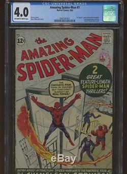 Amazing Spider-Man 1 CGC 4.0 Marvel 1963 1st J Jonah Jameson & More