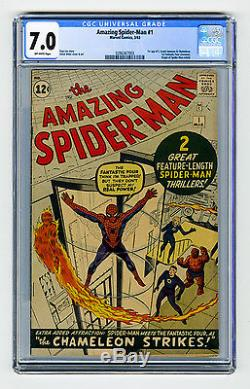 Amazing Spider-Man #1 CGC 7.0 OW KEY 1st Jameson FF X-Over Origin Retold Marvel