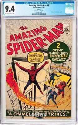 Amazing Spider-Man #1 CGC 9.4 1966 GGR Rare! After Fantasy #15! F8 121 cm