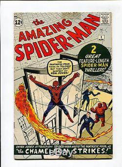 Amazing Spider-Man #1 KEY Origin 1st Chameleon Fantastic Four Ditko Marvel Comic