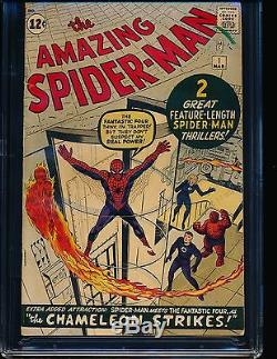 Amazing Spider-Man # 1 Stan Lee signature 1st page CGC 5.5 OWithWHITE Pgs