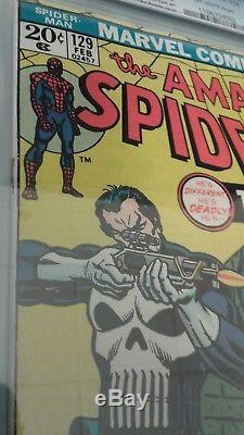 Amazing Spider-Man 129 CGC 7.5 Bronze Mega Key Marvel 1st App Punisher Spiderman