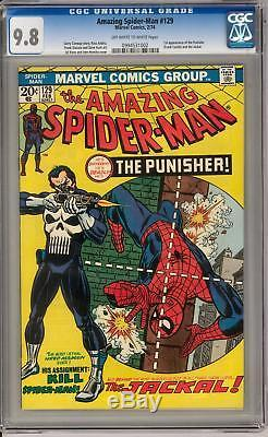 Amazing Spider-Man #129 CGC 9.8 (OW-W) Punisher 1st Appearance Highest Graded