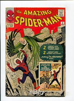Amazing Spider-Man #2 1st Vulture Ditko Lee Terrible Tinker Marvel Silver Comic