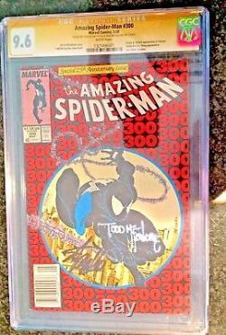 Amazing Spider-Man #300 CGC 9.6 SS Signed 2X STAN LEE & TODD McFarlane 1st Venom