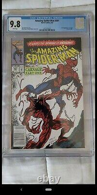 Amazing Spider-Man 361, Newsstand, CGC 9.8, 1st appearance of Carnage, HOT BOOK
