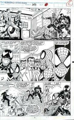 Amazing Spider-Man #363 Marvel 1992 (Original Art) Pg #5 Mark Bagley Venom