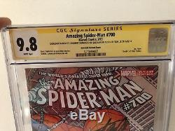 Amazing Spider-Man #700 CGC 9.8 Stan Lee Sighned, Plus 3 More. Sighned 4X