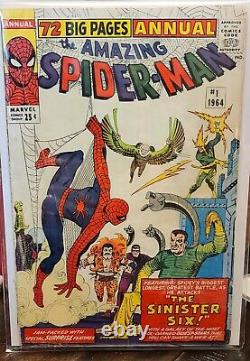 Amazing Spider-Man Annual 1 KILLER HTF KEY1st Sinister SixOWithWT Pages3.0