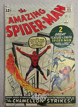 Amazing Spider-man #1 1963 original 2nd appearance 4.5 VG+ Marvel