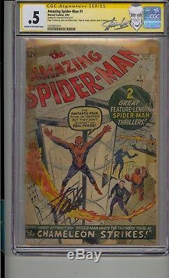 Amazing Spider-man #1 Cgc. 5 Ss Signed Stan Lee 1