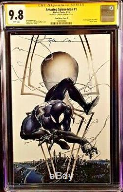 Amazing Spider-man #1 Cgc Ss 9.8 Clayton Crain Variant Marvel Comics 2018 Venom