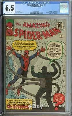 Amazing Spider-man #3 Cgc 6.5 Ow Pages