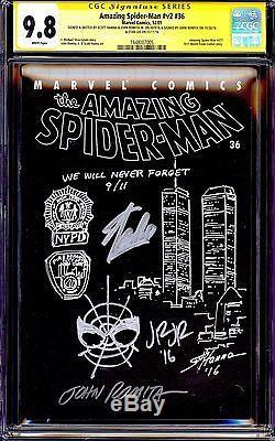 Amazing Spider-man #36 Cgc 9.8 Ss 9/11 Scott Hanna Stan Lee Romita Sr Jr Rare V2
