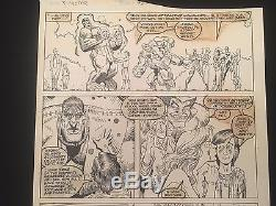 Arthur Adams Original Comic Art X-Factor Full Team + Baby Cable Nathan Summers