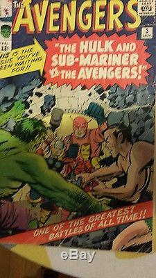 Avengers 1 2 3 4 comics lot low grade