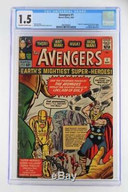 Avengers #1 CGC 1.5 FR/GD -Marvel 1963- 1st App & ORIGIN (Iron Man Hulk Thor)
