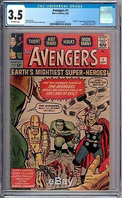 Avengers 1 CGC Graded 3.5 VG- Marvel Comics 1963