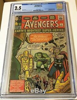 Avengers #1 Origin and 1st appearance of Avengers 1963 CGC 2.5 solid KEY