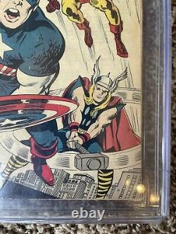 Avengers #4 Cgc 2.5 1st Captain America Silver Age Comic Old Label Lot Cbcs Pgx