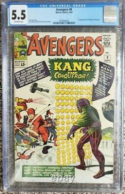 Avengers 8 CGC 5.5 OW 1st Appearance of Kang the Conqueror MCU