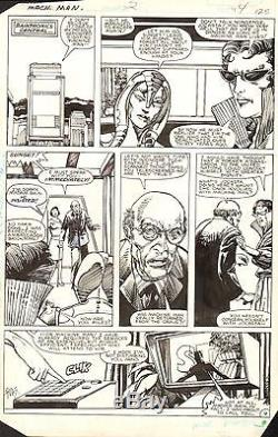 BARRY WINDSOR SMITH & HERB TRIMPE Machine Man #2 Original Marvel Comic Art 1984