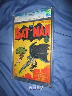 BATMAN #1 CGC 1.5 Unrestored 1st Appearance of Joker and Catwoman 1940 GORGEOUS