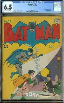 BATMAN #14 CGC 6.5 OWithWH PAGES