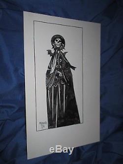 (BPRD/HELLBOY) Original Art Sketch by Mike Mignola Skull/Vampire/Horror