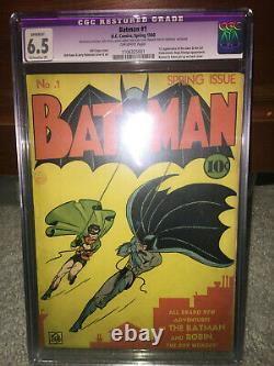 Batman #1 CGC 6.5 (R) DC 1940 Golden Age Holy Grail! No trimming! 111 cm