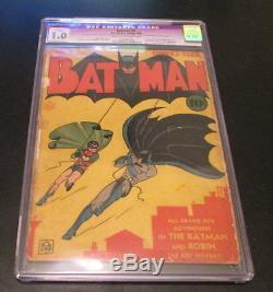 Batman #1 DC Comics Golden Age 1940 CGC 1.0 1st appearance Joker & Catwoman