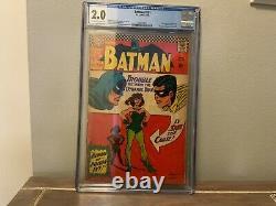 Batman #181 Silver Age Cgc Graded 2.0 Poison Ivy 1st Appearance Key